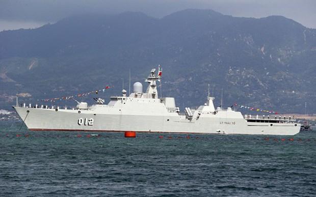 Arriba buque la Armada vietnamita a Myanmar hinh anh 1