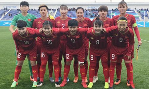 Vencio Vietnam a Uzbekistan en partido de futbol femenino clasificatorio para Olimpiadas de 2020 hinh anh 1