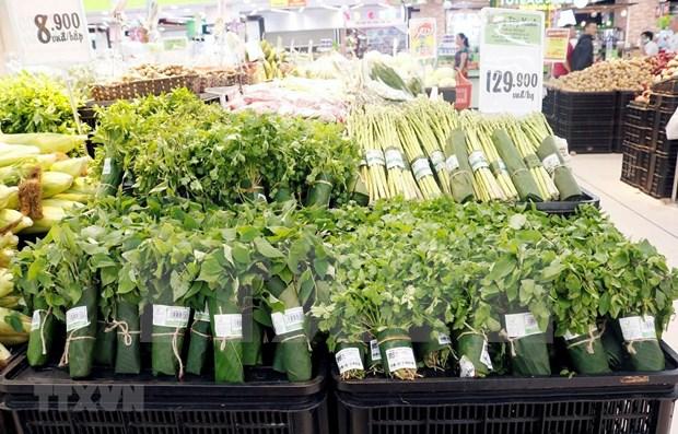 Aprecia prensa internacional uso de hojas de platano como envases en supermercados vietnamitas hinh anh 1