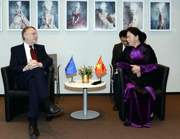 Fortalece la Asamblea Nacional de Vietnam sus relaciones con Parlamento Europeo hinh anh 1