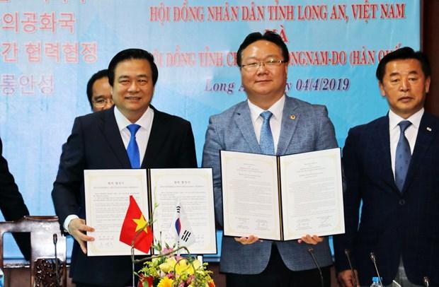 Firman provincias de Vietnam y Corea del Sur acuerdo de cooperacion economica hinh anh 1