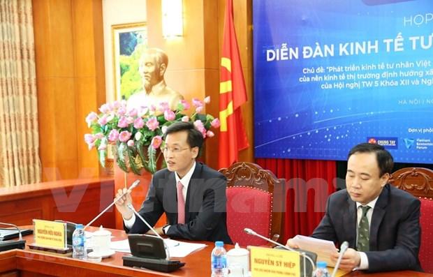 Celebraran Foro de Economia Privada de Vietnam 2019 en mayo proximo hinh anh 1
