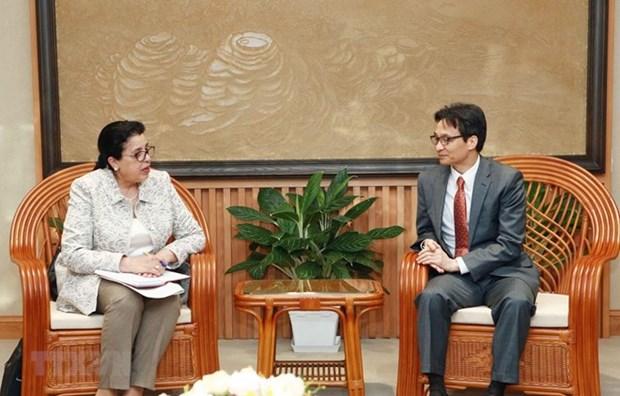Vicepremier vietnamita destaca relaciones entre su pais y OIEA hinh anh 1