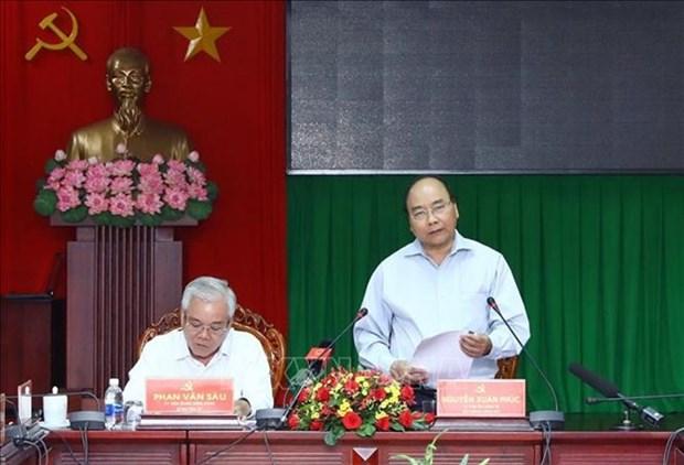 Premier vietnamita exhorta fuerte reestructuracion economica en provincia surena de Soc Trang hinh anh 1