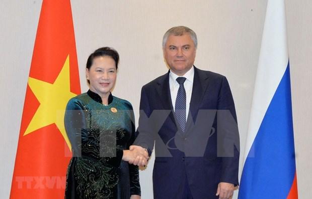 Cooperacion parlamentaria es uno de pilares en nexos Vietnam-Rusia, afirma maxima legisladora vietnamita hinh anh 1