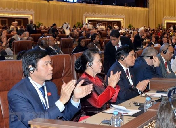 Participa Vietnam en la ceremonia de apertura de la 140 Asamblea de UIP en Qatar hinh anh 1
