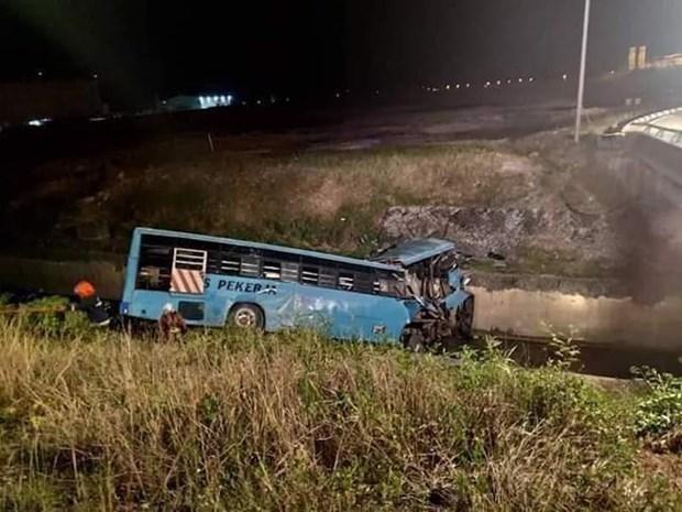 Al menos 10 muertos en accidente de transito en Malasia hinh anh 1