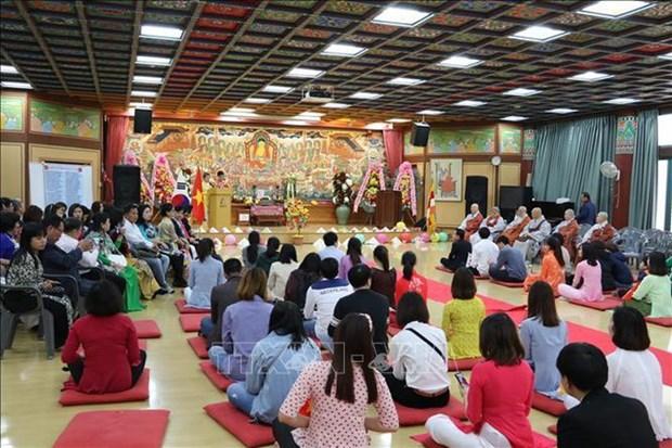 Efectua comunidad budista vietnamita en Corea del Sur requiem por la paz hinh anh 1