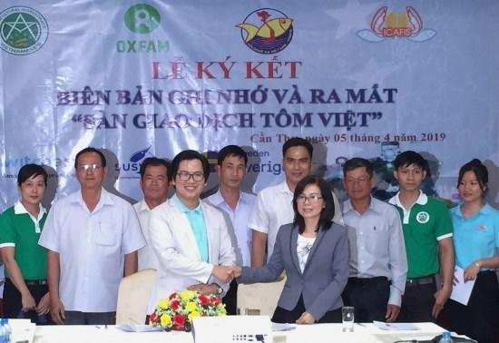 Presentan en Vietnam primer salon de transacciones de camarones hinh anh 1