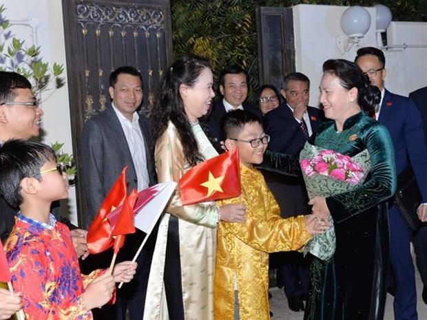 Maxima legisladora vietnamita se reune con connacionales residentes en Qatar hinh anh 1