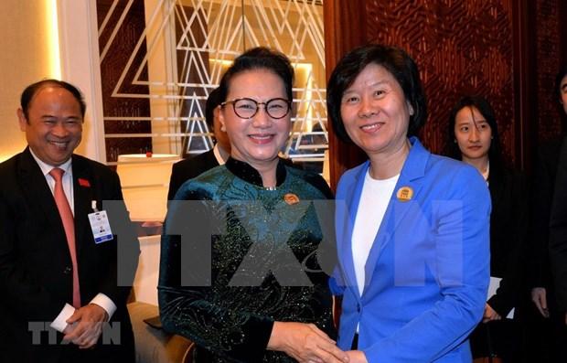 Dispuesto Vietnam a cooperar con China en diversos sectores, afirma lider parlamentaria hinh anh 1