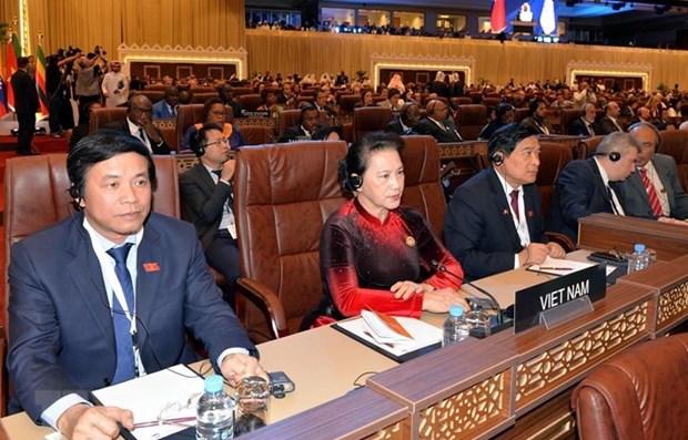 Concluye presidenta del Parlamento de Vietnam gira por Marruecos, Francia, Belgica y Qatar hinh anh 1