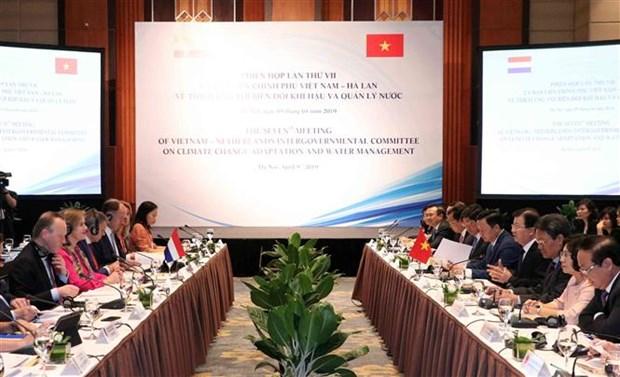 Determinados Vietnam y Paises Bajos a promover cooperacion en enfrentamiento al cambio climatico hinh anh 1