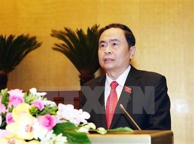 Dirigente del Frente de Patria de Vietnam saluda a Camboya por el tradicional festival Chol Chnam Thmay hinh anh 1
