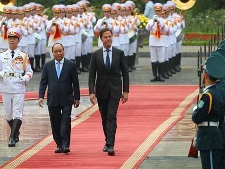 Concluye premier neerlandes su visita oficial a Vietnam hinh anh 1