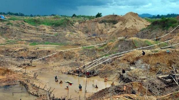 Mueren en Indonesia cinco mineros de diamantes por deslizamiento de tierra hinh anh 1