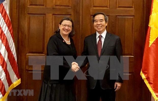 Realiza visita de trabajo a EE.UU. delegacion del Partido Comunista de Vietnam hinh anh 1