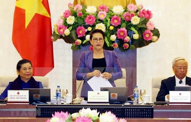 Inauguran en Vietnam periodo de sesiones del Comite Permanente del Parlamento hinh anh 1