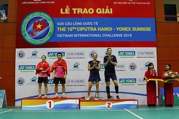 Cerca de 300 badmintonistas extranjeros participan en torneo internacional en Vietnam hinh anh 1
