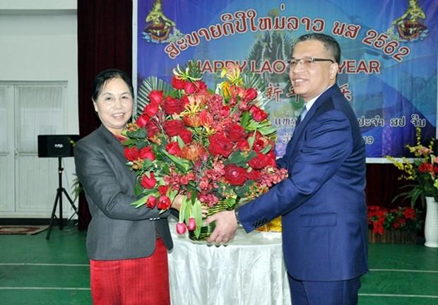 Fomentan embajadas de Vietnam y Laos en Beijing amistad especial entre ambos paises hinh anh 1