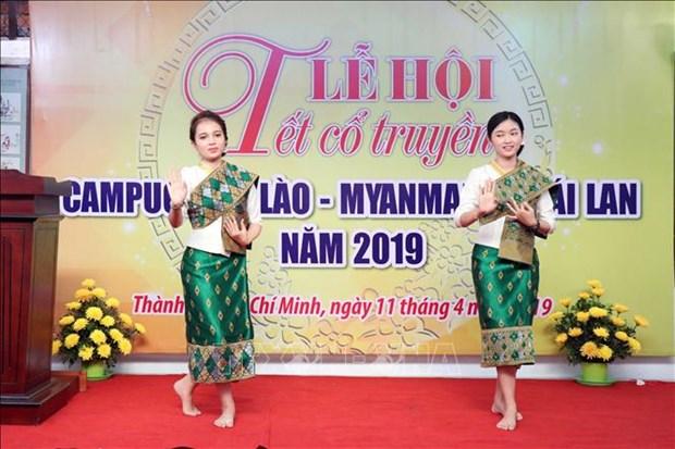 Celebran en Vietnam fiesta budista tradicional de Camboya, Myanmar, Laos y Tailandia hinh anh 2