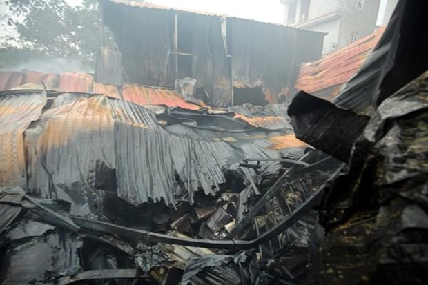Mueren en Hanoi ocho personas como consecuencia de un incendio hinh anh 1
