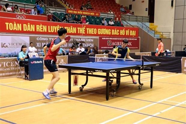 Inauguran el torneo internacional de tenis de mesa en Hai Duong hinh anh 1