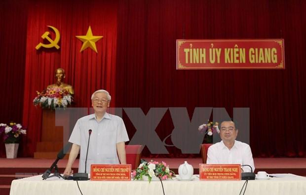 Insta maximo dirigente politico de Vietnam a Kien Giang a aprovechar potencialidades economicas hinh anh 1