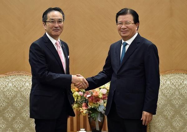Vicepremier vietnamita recibe al director general de Marubeni de Japon hinh anh 1