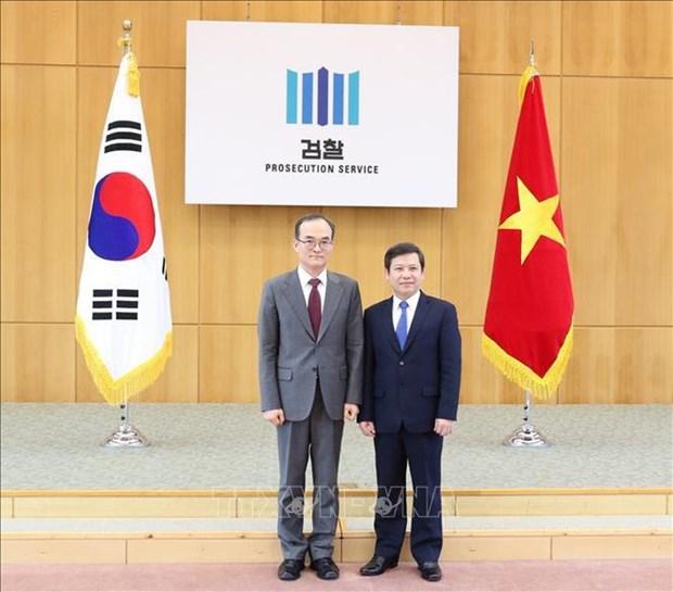 Intensifican Vietnam y Corea de Sur su cooperacion en sector judicial hinh anh 1