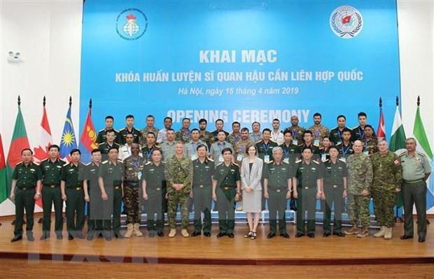 Inauguran curso de capacitacion para oficiales en unidad de logistica de la ONU hinh anh 1