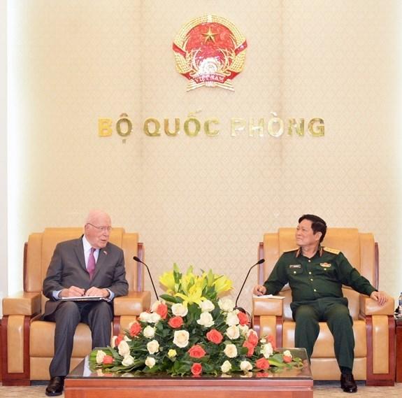Destacan cooperacion en defensa entre Vietnam y Estados Unidos hinh anh 1