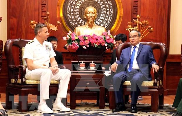 Promueven cooperacion militar entre Vietnam y Estados Unidos hinh anh 1
