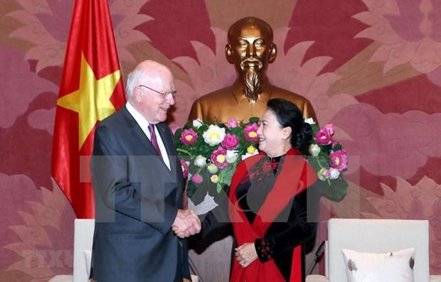 Pide presidenta de Asamblea Nacional de Vietnam impulsar nexos parlamentarios con EE.UU. hinh anh 1