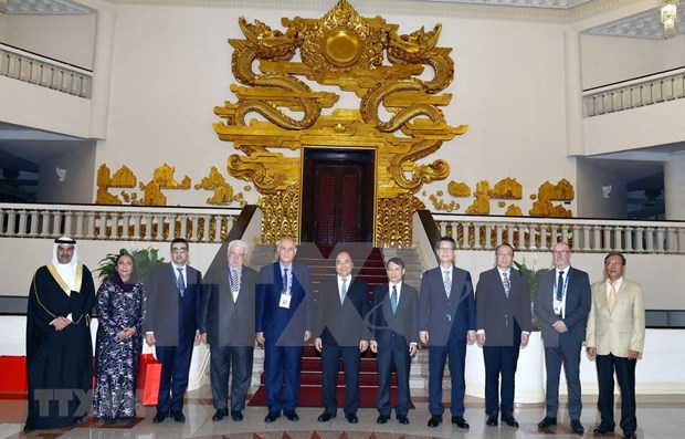 Recibe premier de Vietnam a delegados a la reunion de OANA en Hanoi hinh anh 1