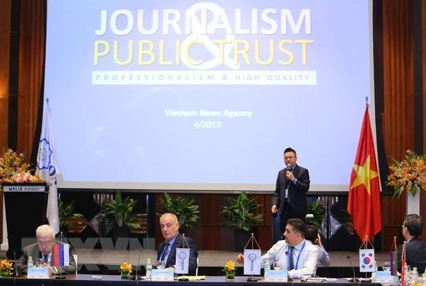 Prensa regional acapara la Reunion 44 del Comite Ejecutivo de OANA en Hanoi hinh anh 1