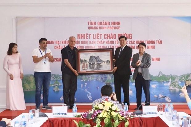 Autoridades de provincia vietnamita de Quang Ninh reciben a delegados a la 44 Reunion de OANA hinh anh 1