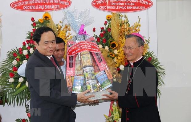 Presidente del Frente de la Patria felicita a catolicos por la Pascua hinh anh 1