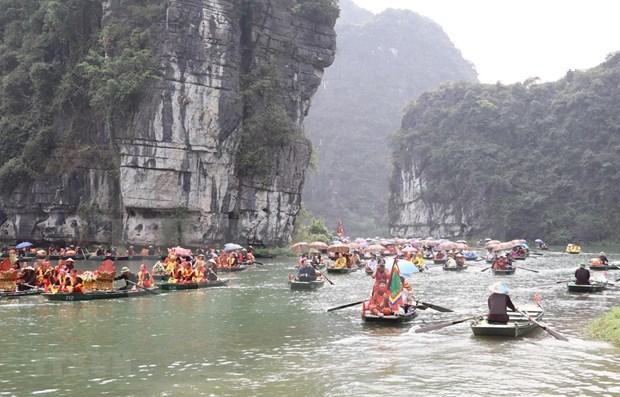 Celebran Festival de Trang An en provincia vietnamita de Ninh Binh hinh anh 1