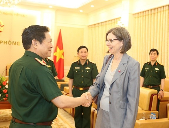 Recibe ministro vietnamita de Defensa al embajador canadiense hinh anh 1