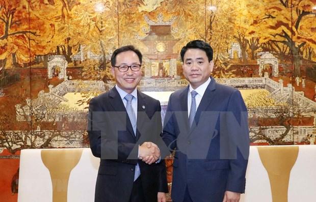 Apoyara Vietnam construccion del Centro de Investigacion y Desarrollo de Samsung en Hanoi hinh anh 1