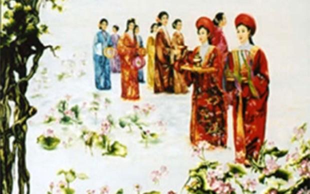 Honran a bordadoras artesanales en el Festival de Flores 2019 de Vietnam hinh anh 1