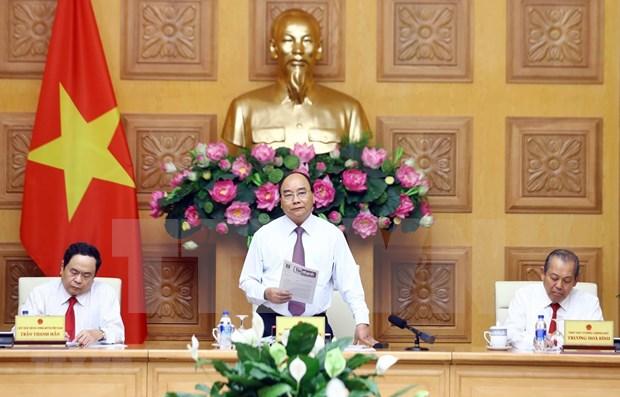 Pide premier de Vietnam impulsar coordinacion entre el gobierno y Frente de la Patria hinh anh 1