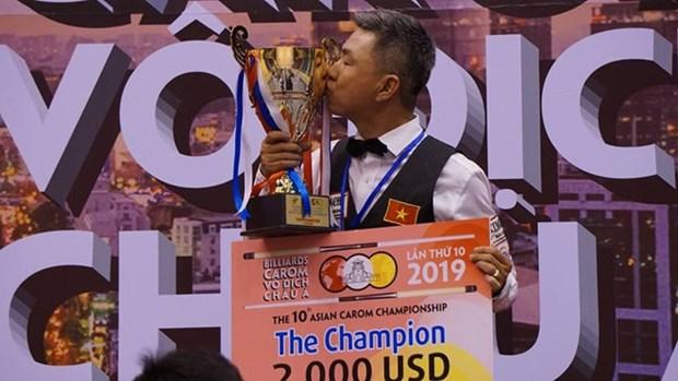 Gana jugador vietnamita Campeonato Asiatico de Billar Carambola de una banda hinh anh 1
