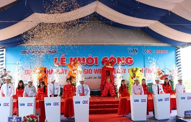 Construyen aerogenerador en provincia vietnamita de Ninh Thuan hinh anh 1