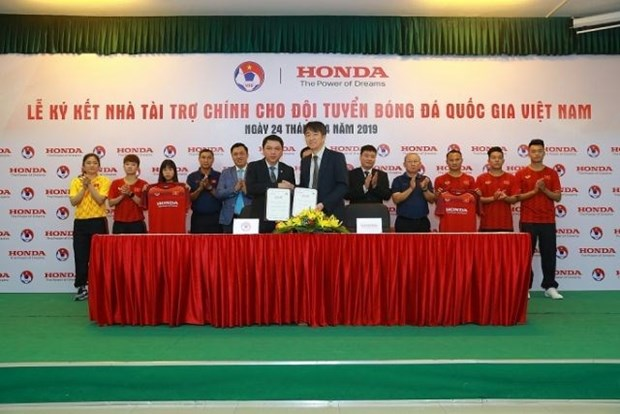 Honda Vietnam patrocinara equipos nacionales de futbol hinh anh 1