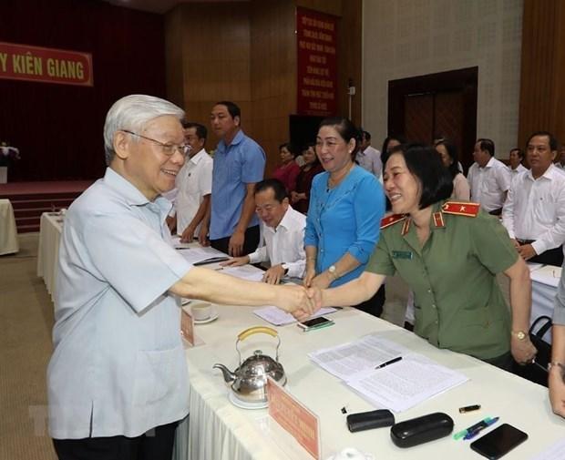 Secretario general del PCV y presidente de Vietnam, Nguyen Phu Trong, volvera a trabajar pronto, confirma Cancilleria hinh anh 1