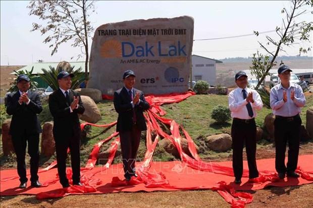 Inauguran en provincia central de Vietnam proyecto de energia solar hinh anh 1