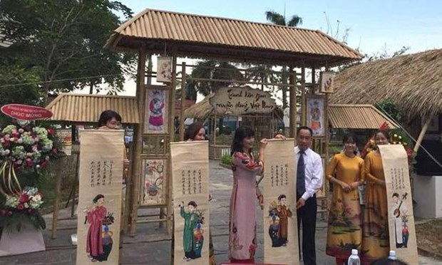 Exhiben en Vietnam pinturas folcloricas tradicionales hinh anh 1