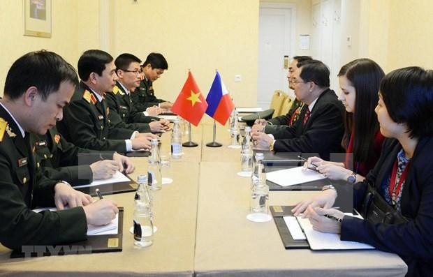 Robustecen Vietnam y Rusia la cooperacion militar hinh anh 1